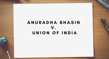 Anuradha Bhasin v. Union of India